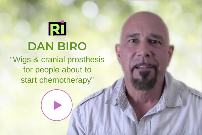 Dan Biro video on Wigs & cranial prosthesis for people about to start chemotherapy